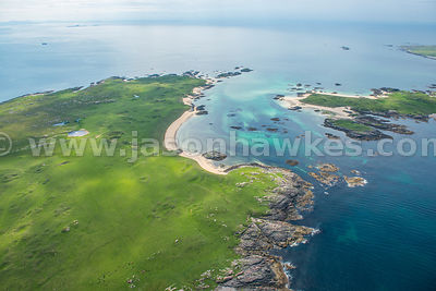 Aerial view of Coll, Scotland