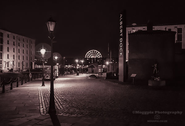 Royal Albert Dock by Lamplight
