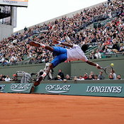 France's Gael Monfils during the Tennis French open, Roland Garros Stadium, France, on Mai 29, 2014. Photo by Philippe Montig...