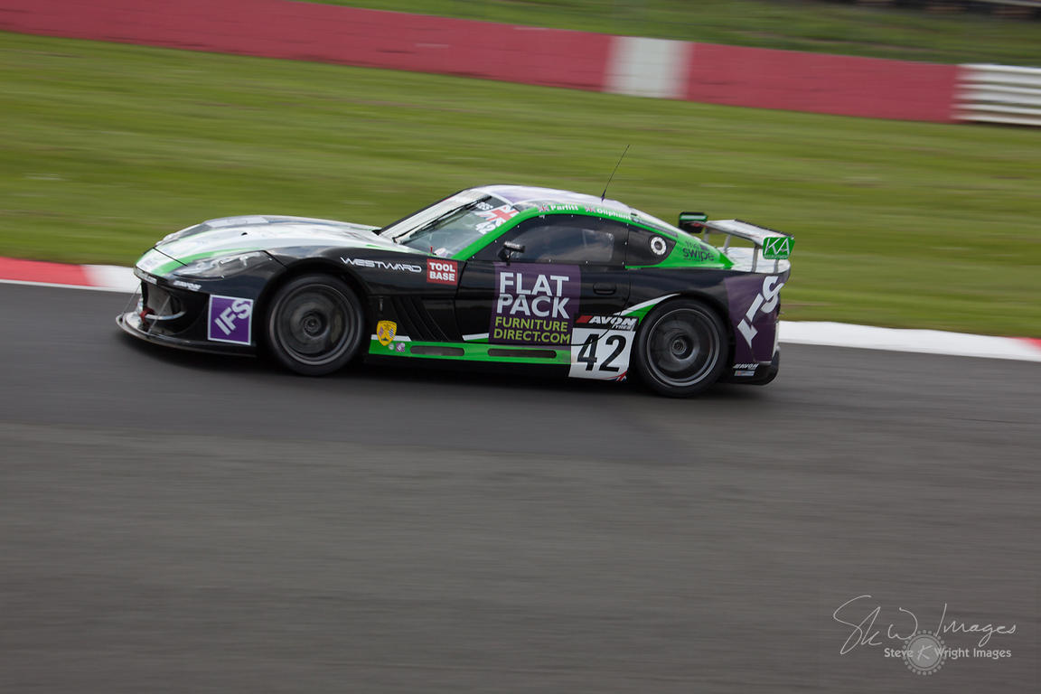 Century Motorsport Ginetta G55 GT4 in action at the Silverstone 500 - the third round of the British GT Championship 2014 - 1...