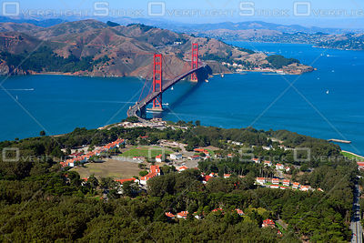 The Golden Gate Bridge and Presidio