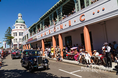 Art Deco Saturday 2012 - Vintage Car Parade.  License Plate =EFB54 & MA 1935