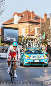 The Cyclist Jakob Fuglsang- Paris Nice 2013 Prologue in Houilles