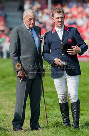 Matthew Wright and His Grace The Duke of Beaufort, Badminton Horse Trials 2011.