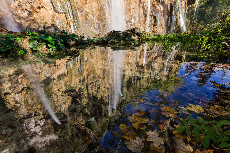 Reflection of a Waterfall at the Upper Lakes