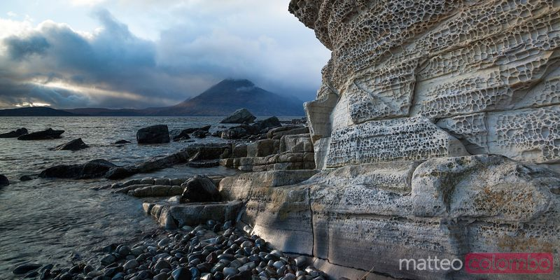 Sunset at Elgol beach isle of Skye Scotland