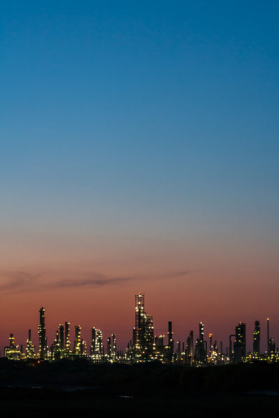 Oil Refinery at Dusk