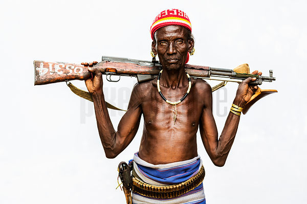Cattle Herder from the Kara Tribe