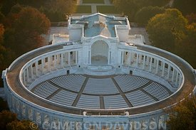 Aerial Photograph of Arlington National Cemetery Amphitheater