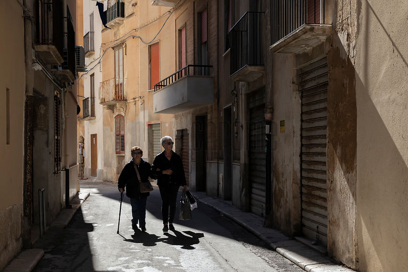 Women Walking in the Streets of Trapani