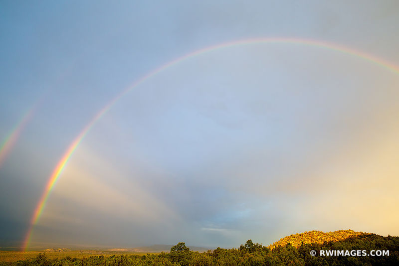 DOUBLE RAINBOW ENCHANTING LIGHT NORTHERN NEW MEXICO COLOR