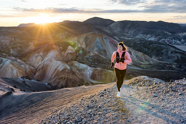Trail running in Landmannalaugar with Elisabet Margeirsdottir