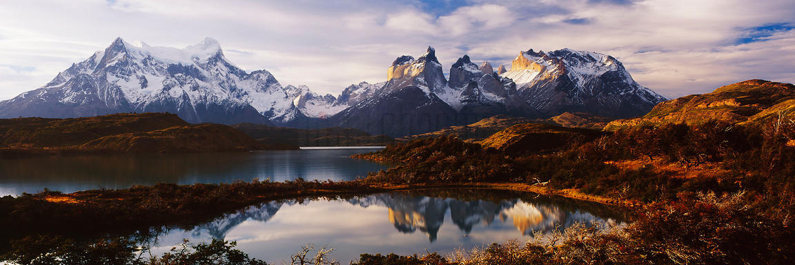 Lake Pehoe and Los Cuernos del Paine, Torres del Paine National Park, Chile