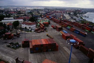 PANAMA Colon Port of Cristobal, one of the busiest in Latin America