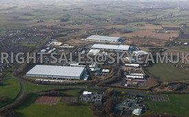 Skelmersdale high level aerial view of the Stanley Industrial Estate