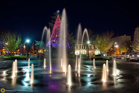 Downtown Chico Plaza at Christmas #5