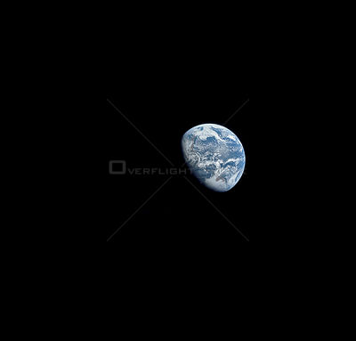21-27 Dec. 1968) --- View of Earth as photographed by the Apollo 8 astronauts during their lunar orbit mission.
