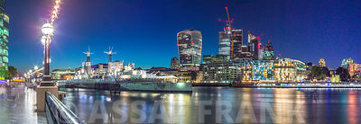 London city skyline with Thames river at night