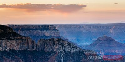 Panoramic sunrise at the Grand Canyon National Park, USA