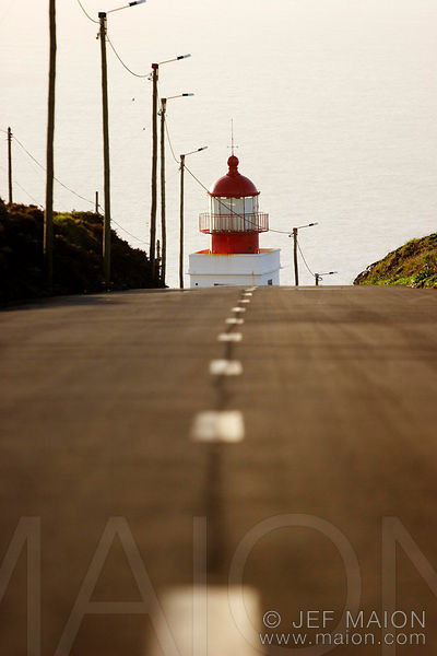 Lighthouse and road