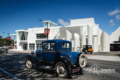 Art Deco Saturday 2014.  License Plate KL 25  In front of the MTG Hawke's Bay Museum.