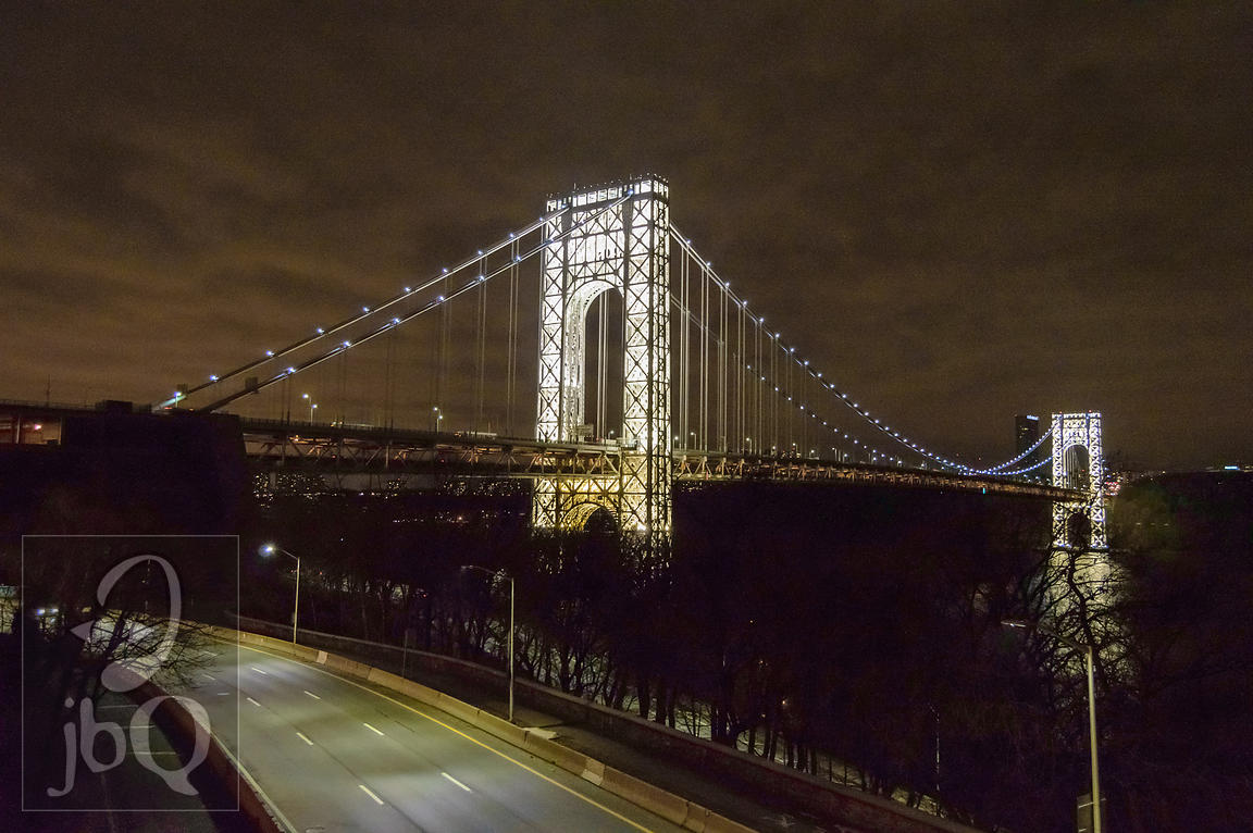 George Washington Bridge Lit Up