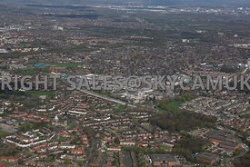 Wythenshaw town centre and the surrounding social housing estates