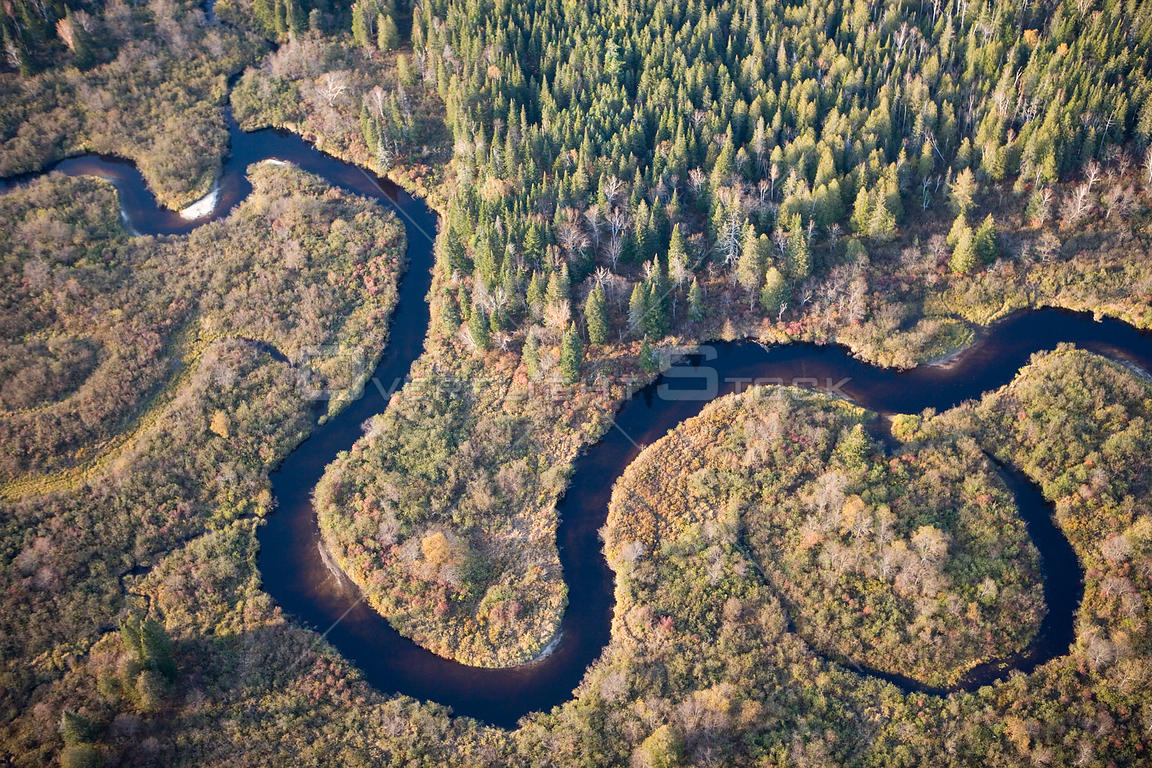Wetlands of the Nulhegan River Conte National Wildlife Refuge. Northeast Kingdom, Connecticut River tributary, Vermont, USA, ...