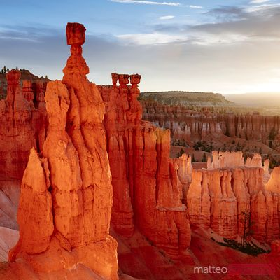 Sunrise over Thor's hammer, Bryce NP, USA