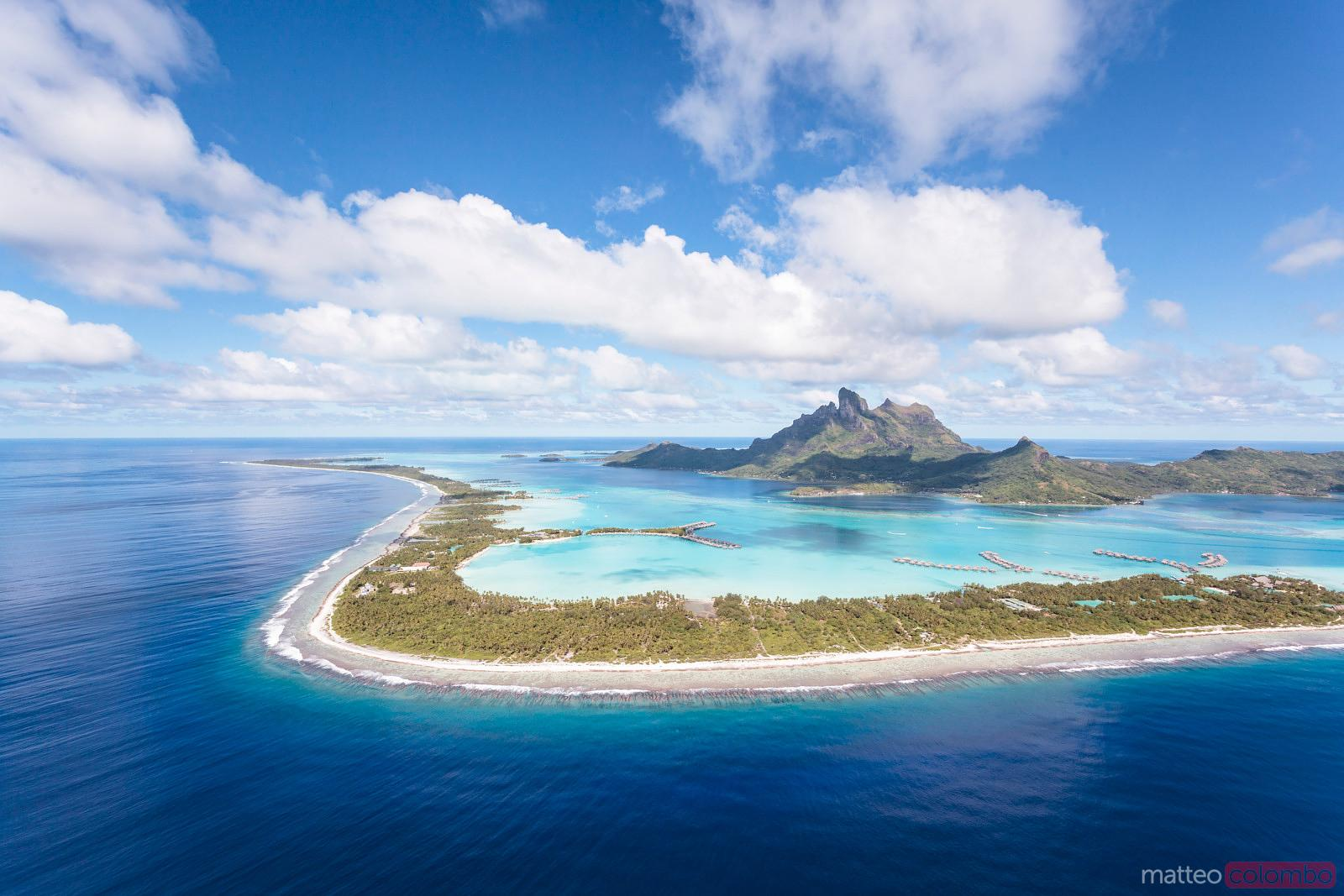 Matteo Colombo Travel Photography Aerial View Of Bora Bora