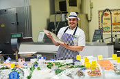 Morrisons, Dereham, Norfolk..Fishmonger, Zane Gamble..Photography by Jason Bye.t:   07966 173 930.e: mail@jasonbye.com.w: htt...