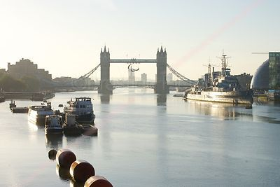 Early Morning duirng the London Paralympic Games at Tower Bridge