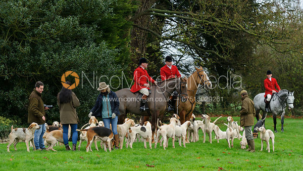 The VWH and Belvoir Hunts at Bescaby Hall 26/11