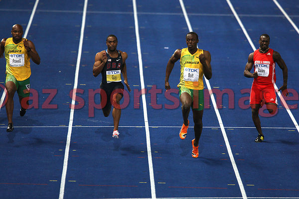 Usain Bolt (JAM), Tyson Gay (USA)