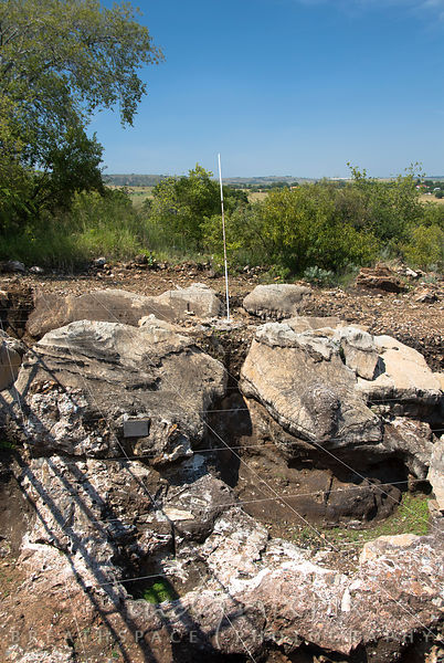Archeological dig site in the highveld where the skull of an Australopithecus africanus dating back 2.5-million years was found.