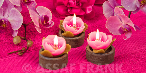 Candles with Orchids