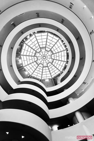 Interior of Guggenheim museum, New York city, USA