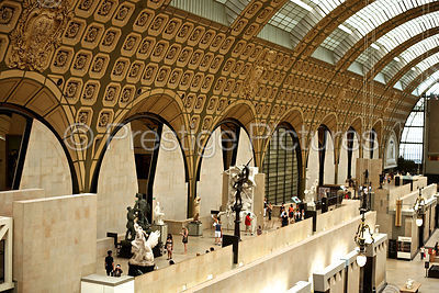 The Ornate Vaulted Ceiling in The Great Hall at The Musee d'Orsay