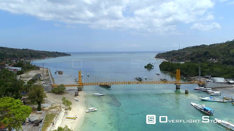 Jembatan Kuning  Nusa Lembongan Yellow Bridge Indonesia