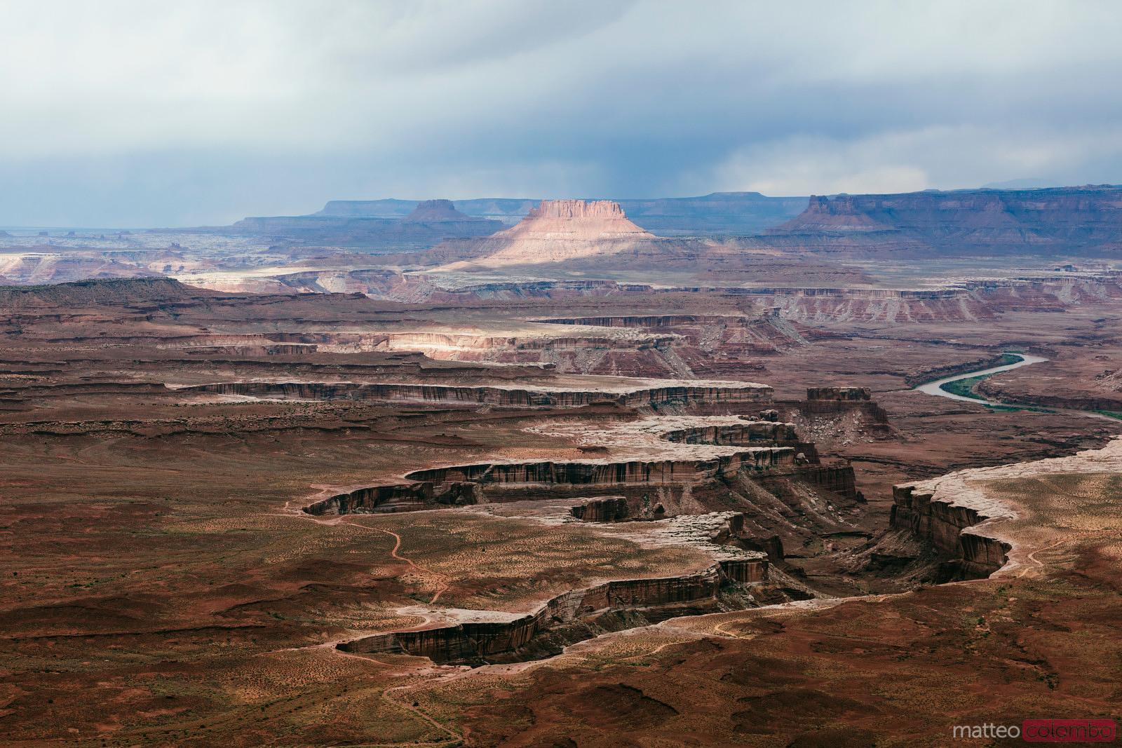 Dramatic weather over Canyonlands national park, USA