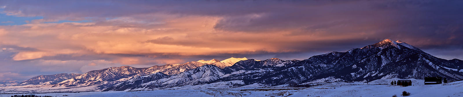 Bozeman Winter Sunset