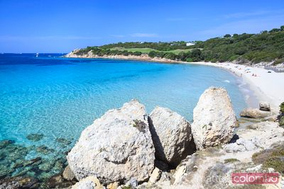 Beautiful beach in the mediterranean