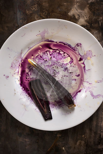 Purple carrot with juice