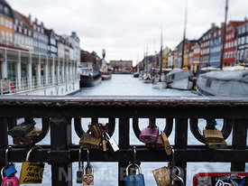 Love locks in Nyhavn