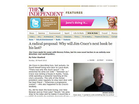 Jim Crace - The Independent on Sunday New Review Magazine