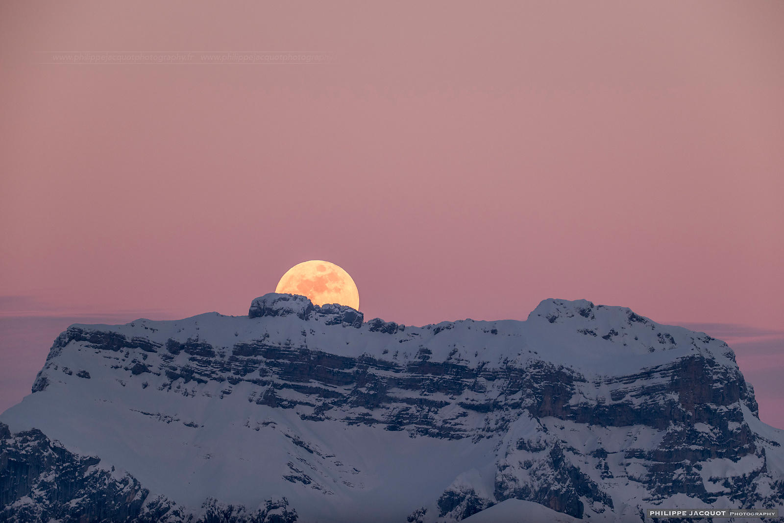 Fullmoon of the snows - Annecy Semnoz