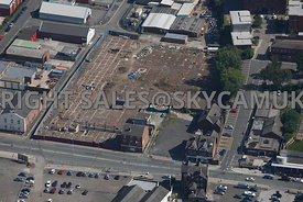 Warrington aerial photograph of the area surrounding Winnick Street and John Street and Central Way