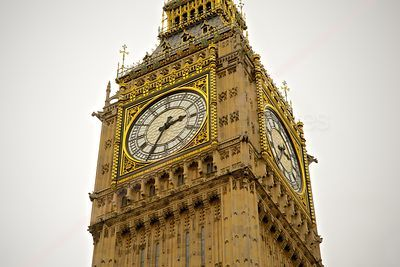 The clock Face of Big Ben at the top of the Elizabeth Tower