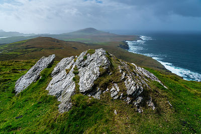 Bray Head view from Geokaun Mountain, Valentia Island, Iveragh Peninsula, County Kerry, Ireland, Europe. September 2015.