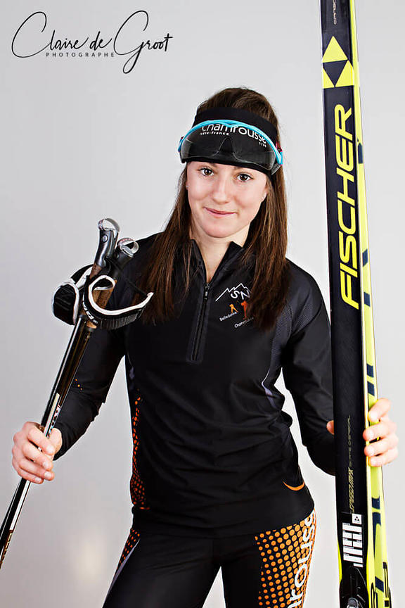 Cross Country Skiing Studio Sports Portrait